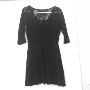 Lace babydoll dress with 3/4 sleeves